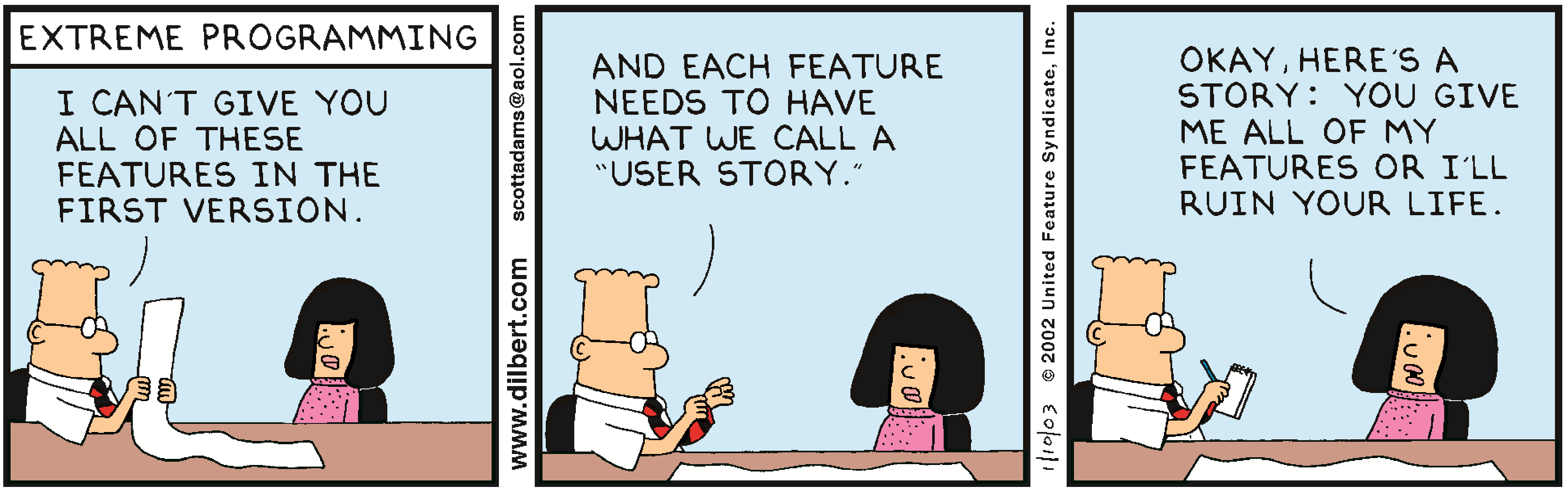 Dilbert - Give me all Features