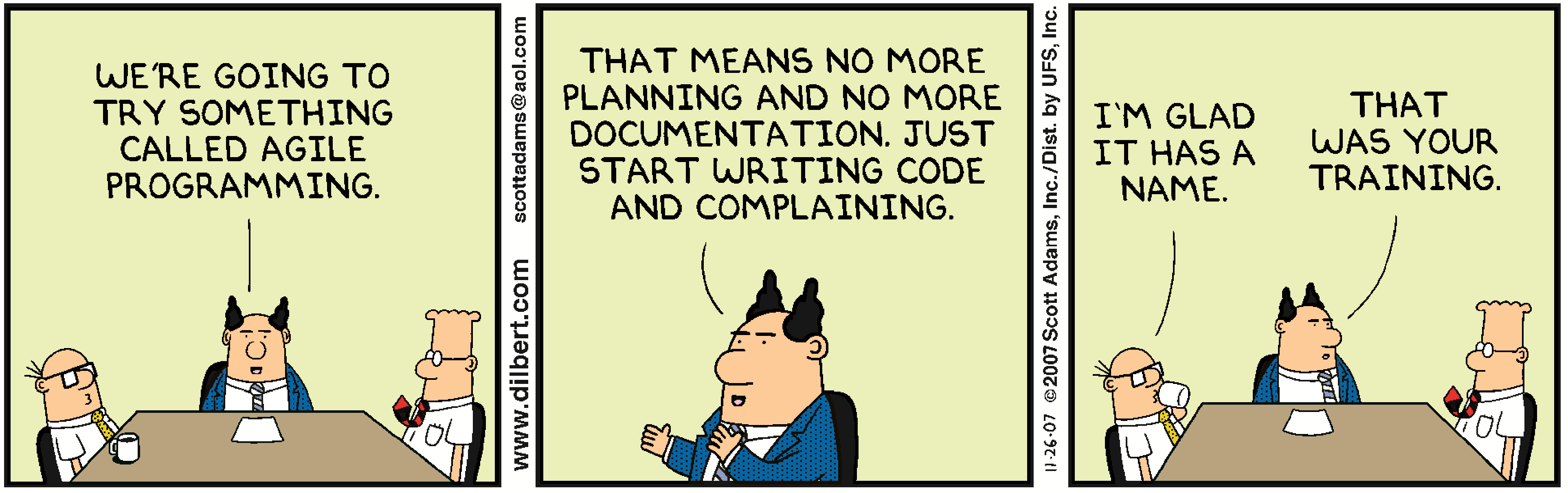 Dilbert - Training Agile Programming